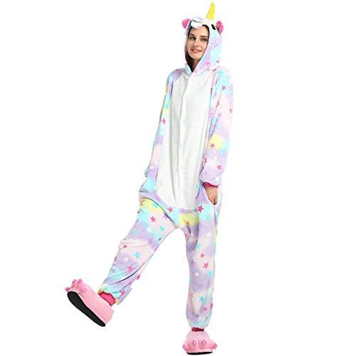 MysteryMelody-Unicornio-Pijamas-Cosplay-Disfraces-Animales-Franela-Monos-Unisex-ropa-de-dormir-Disfraces-de-fiesta