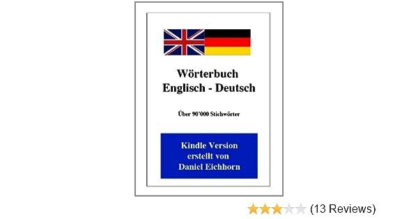 Wörterbuch Englisch Deutsch 2 Auflage Ebook Daniel Eichhorn