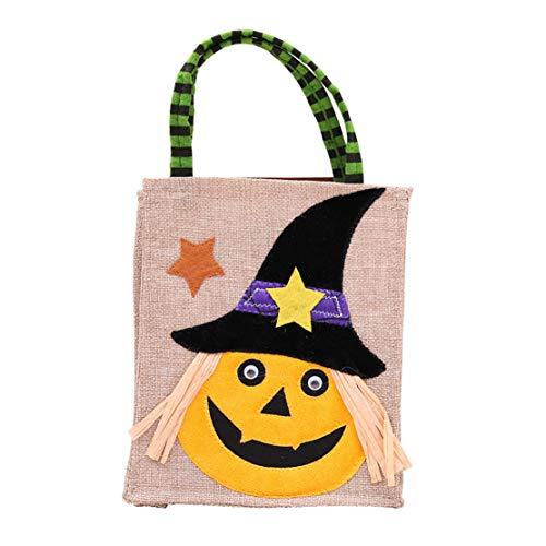 happy event Baby Mädchen Jungen Karikatur Lustig Gruselige Halloween Betteltasche | Hexen Kürbis Speicher Süßigkeit Tasche | Halloween Pumpkin Cartoon Candy Bags (C)