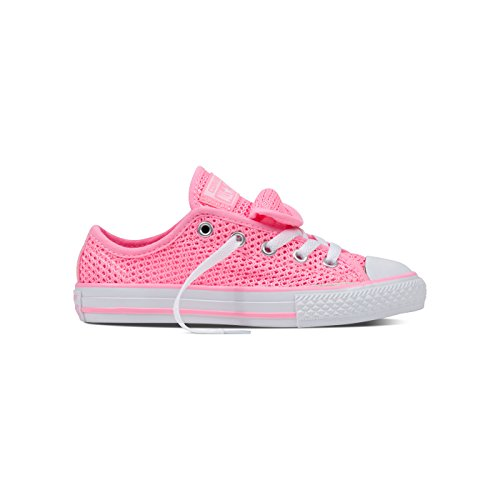 Converse Unisex-Kinder Chuck Taylor All Star Double Tongue OX Sneaker, pink, 28 EU - Converse Chuck Taylor Double Tongue