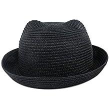Westeng Enfants Bébé Chapeau de Paille Forme d oreille de Chat Couleur de  Bonbon Chapeau 0c6d0579985