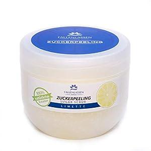 Zuckerpeeling Limette von FALLENLASSEN Wellness 100% natürliche Zutaten vegan für eine glatte und gepflegte Haut