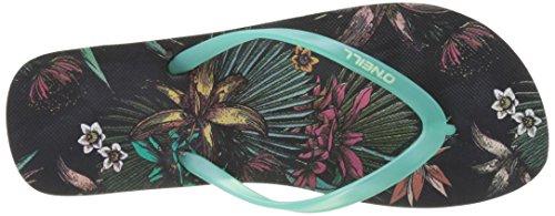 O'Neill Damen Fw Printed Flip Flop 7a9528 Dusch-& Badeschuhe Schwarz (BLACK Allover Print)