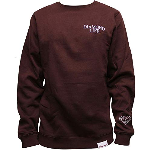 Diamond Supply Co. Diamond Life Sweatshirt Burgundy (Co Supply Pullover Diamond)