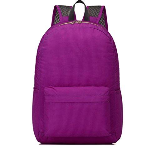 Travel Bag Zaino Snodo Della Pelle Ultra-Leggero Spruzzi D'Acqua Bag Outdoor Sports , blue purple