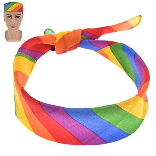Kesheng Stirnband Kopfband Kopfbedeckung Regenbogen Farbig Gay Pride Unisex Deko