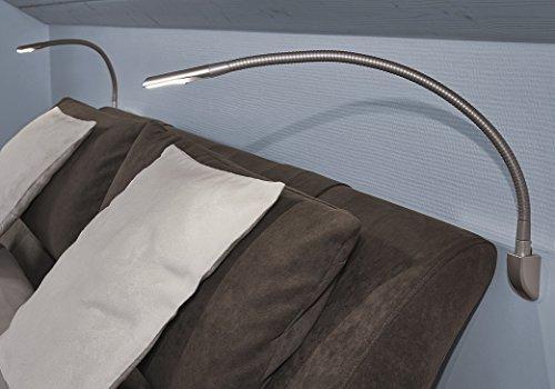 2er Set - GedoTec® Flexible LED Leseleuchte Bettleuchte Modell GLOBUS 1026 | 12V - Lichtstrom: 110 lm | Schwanenhalsleuchte kaltweiß 4000 K | Spotlampe IP20 geprüft | Markenqualität für Ihren Wohnbereich (Flexible 12v Leseleuchte)
