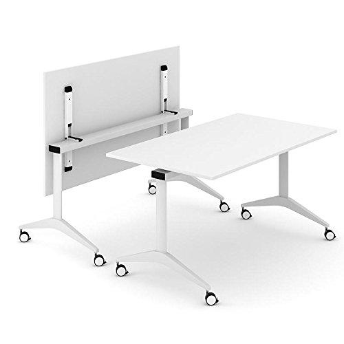 Konferenztisch FLIP-TOP 160x80 cm klappbar rollbar Besprechungstisch Klapptisch