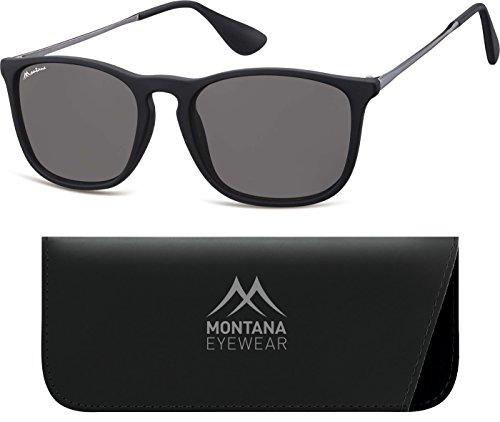 Montana Eyewear Sunoptic S34 Sonnenbrille in schwarz, inklusive Softetui