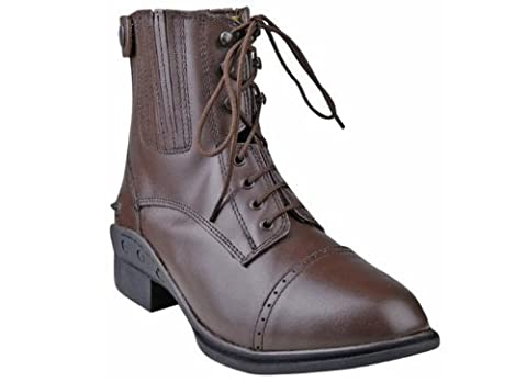 HKM Jodhpur Boot with laces and Zip.-Professional black Size:44