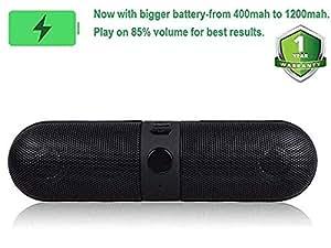 Konarrk Wireless Bluetooth Stereo Pill Speaker KK-FPHILL-BT-SPK for Android & iOS Devices (Color May Vary)