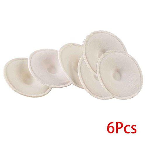 Beaums 6PCS bébé alimentation Pad allaitement lavables soins infirmiers Soft Pad Absorbent soins infirmiers réutilisables anti-débordement Tapis soins de maternité