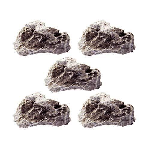 Vosarea Piedra de rocalla Piedra en Maceta Decorativa Microlandscape Suministros de decoración...