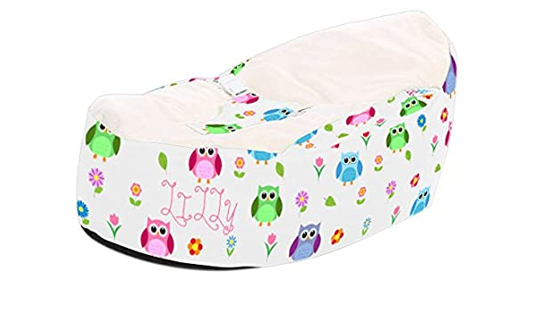 Peachy Rucomfy Luxury Cuddle Soft Hoot Owl Gaga Baby Bean Bags Machost Co Dining Chair Design Ideas Machostcouk