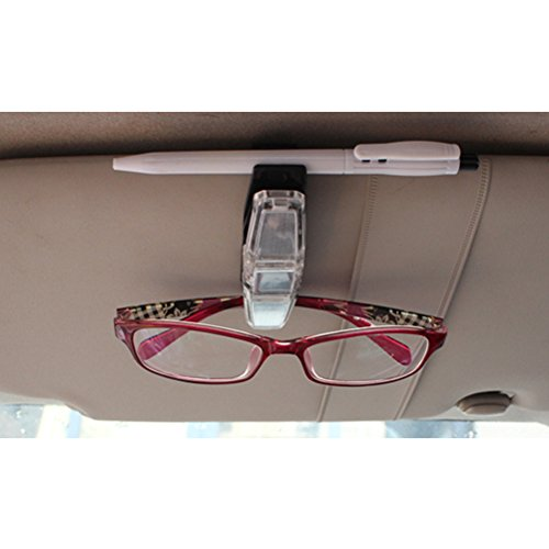 Zhhlaixing Conveniently Glasses Sunglass Pen Holder - Holds 2 Pairs for Cars Suv Auto - 2.5*9*4.5cm