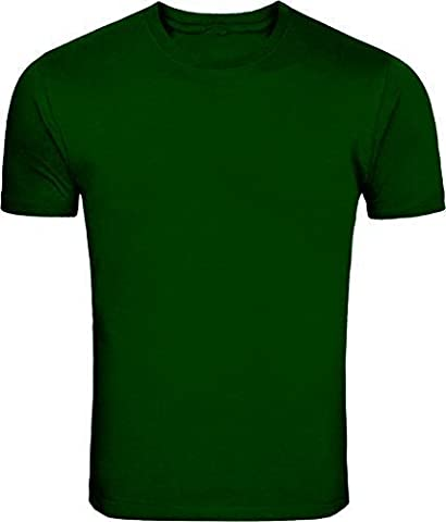 Pe Sports Short Sleeve Crew Tshirts Bottle Green 7-8 Years