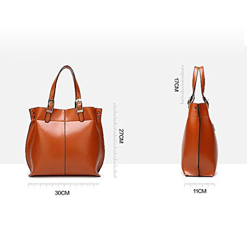 TenYid Entwerfer Handtasche Damen PU Leder Handtasche Schultertasche Shopper Wasserdichte Henkeltaschen Tasche Umhängetasche Rot