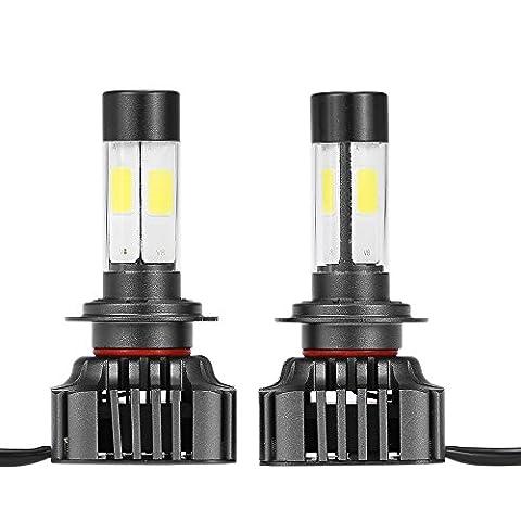 KKmoon Ein Paar von 80W 9600LM H7 LED Scheinwerfer Nebel