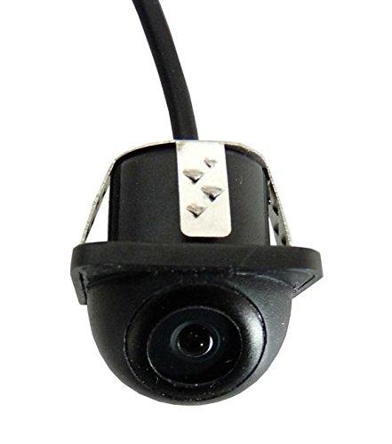 YMPA Rückfahrkamera Kamera Unterbau schwarz mit 6 Meter Kabel für Monitor Auto KFZ PKW Wohnmobil Transporter klein vorne hinten Spiegelung Hilfslinien Distanzlinien 170 180 RFK-UB