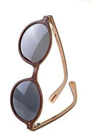 WOLA Damen Sonnenbrille Holz HELIO Brille rund polarisiert UV400