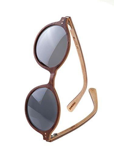 1ddb4988 WOLA wooden sunglasses women slim wood frame, HELIO round UV400 - polarised  koso
