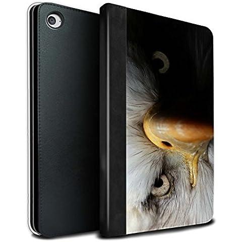Stuff4 PU Cuero Funda/Carcasa/Folio Libro en Para el Apple iPad Mini 4 tablet / serie: Animales de la fauna - Águila/ave de