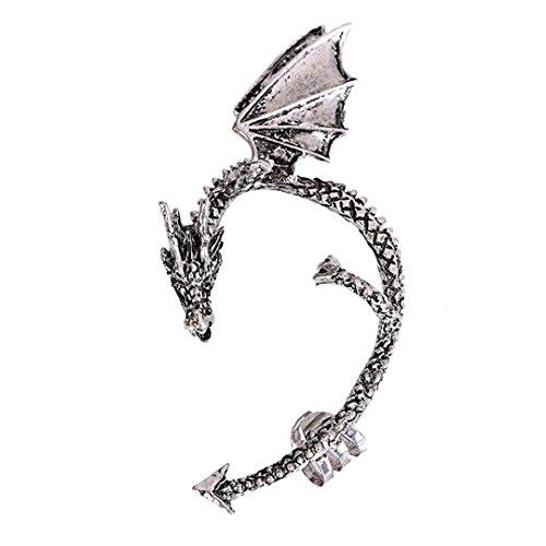 Dragon Bite Ear Cuff Wrap Ohrring Gothic Punk Temptation Ohrringe Schmuck silber ()