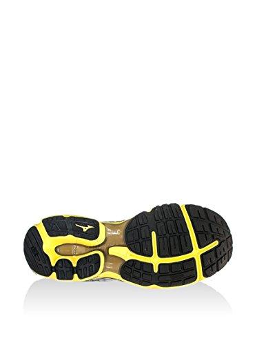 Mizuno - Mizuno Wave Rider 18 Scarpe Running Uomo MainApps Bianco nero giallo