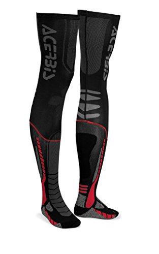 Acerbis 0021693.323.067 x-leg Pro pour Homme, Noir/Rouge