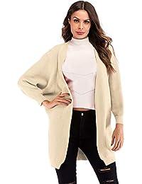 szivyshi a Maniche Lunghe Maniche a Pipistrello Lungo Cardigan Sweater  Maglione Maglia Overcoat Spolverino Coat Cappotto 76d68f0b4f9