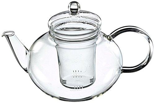 Trendglas Jena - Teiera Miko dal design classico con infusore in vetro, 1,2 l