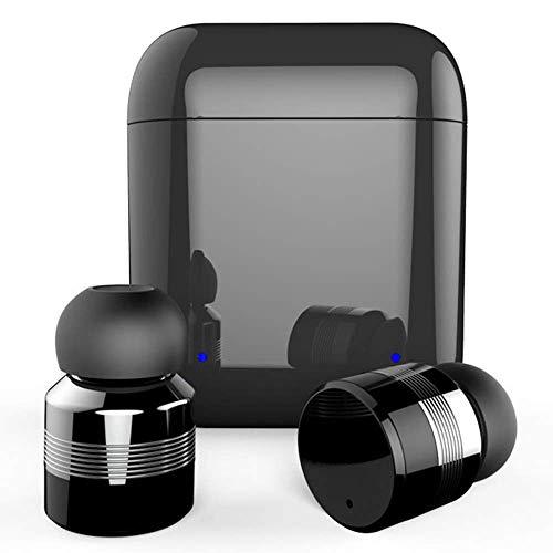 T-XYD Mini-Kopfhörer Echte wasserdichte Touch-Kopfhörer, echte Bluetooth V 5.0-Kopfhörer mit Noise Cancel-Stereo-Ladebox,Black Noise Cancel-mono-headset