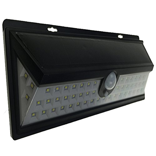 Fancyland Verbesserte Version 54 LED wasserdicht Solar Lights   Sicherheitsleuchten   Solar Power Lights   Sensor Leuchten   PIR-Bewegungsmelder   120 Grad Weitwinkel Erkennung für Pfad, Garten, Pool, Gehweg, Einfahrt