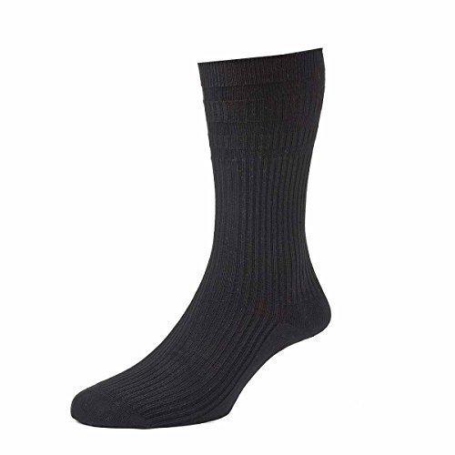 hj91-hall-mens-softop-non-elastic-cotton-rich-socks-13-15-black