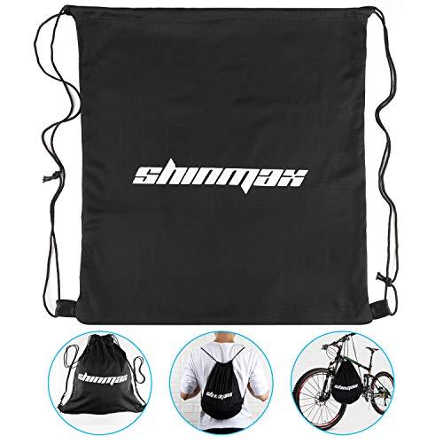 Shinmax Fahrradhelm mit abnehmbarem Visier Rennrad Fahrradhelm mit Visier Rücklicht für Männer & Frauen (Schwarz-Helmtasche)