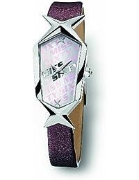 Miss Sixty SCJ003 - Reloj con correa de caucho para mujer, color plateado / gris