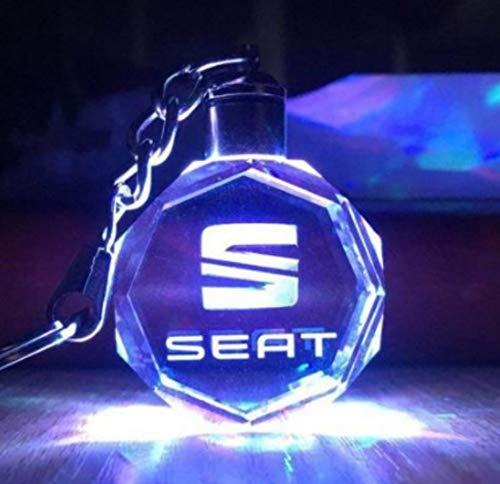 Auto-glas-led (AITU Schlüsselring Auto Logo Licht Led Schlüsselanhänger Anhänger Wand Ringe Souvenir Geschenk Stil Benutzerdefinierte Schlüsselanhänger Glas Schlüsselanhänger, B)