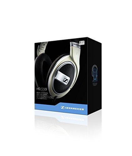Sennheiser HD 599 - Auriculares de Diadema Abiertos (6.3 mm/3.5 mm), Color Marfil
