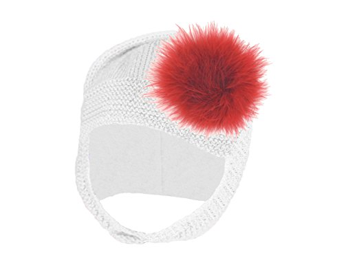 Jamie Rae Hats- White Blossom Bonnet with Red Marabou Red Hat Bonnet