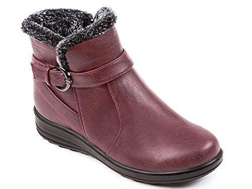 Adulto Wine Bambina Chelsea Donna Casual Unisex Boots fl Scarpe q70BEfwcT