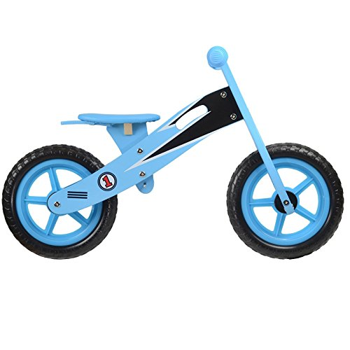 boppi® Wooden Balance Bike – Blue Racer