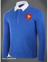 Clásica, estilo vintage, Francés de rugby Camiseta olurun Authentics tamaño 3x l 116,84cm
