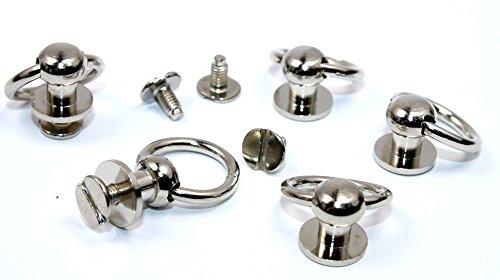 Schraubnieten Ringkloben, Kinderleichte Montage. 11,9x2,0mm. 5 Stück