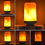 UYTSXFH LED Flamme Birne E27 Feuereffekt Licht Atmosphäre Lichter Zu Hause Verzieren Feuer Lampe für Party Bar Garten Size 6 * 13,5 cm (gelb) Vergleich