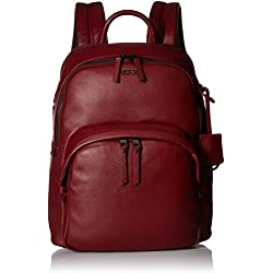 Tumi Voyageur Dori Leather Backpack Mochila Tipo Casual, 33 cm, Rojo (Brick)