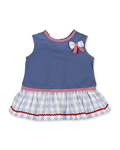 94173f7c7e3 Tutto Piccolo Baby Girls Fifí Dress (Blue 6Mos) Traditional Childrens Wear