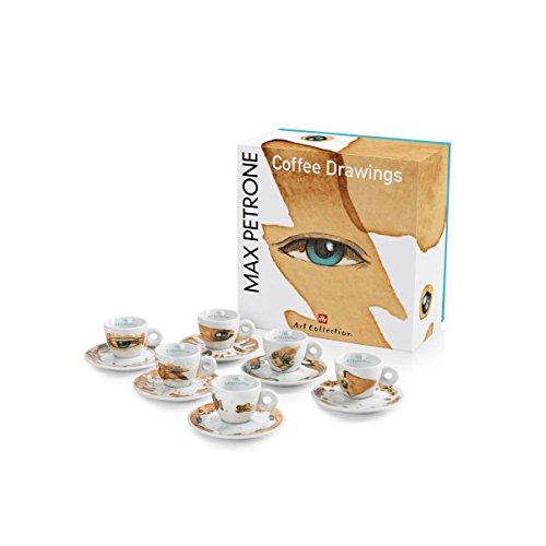 illy MAX PETRONE Collection 6er Set Espressotassen mit UT im Geschenkset