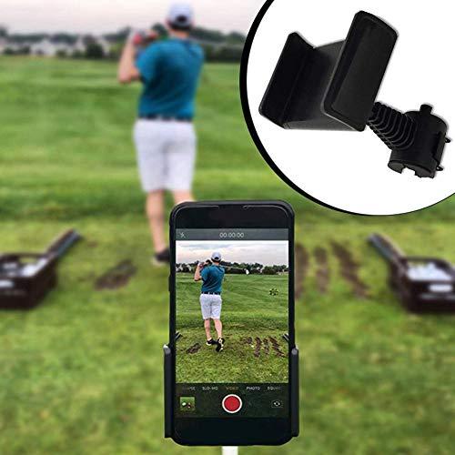 xiangpian183 Golf Handyhalter Golf Swing Record/Analyze, Universal Smartphone Halter für den Golf Trolley/Golf Buggy/Golf Cart Geeignet für alle Smartphones für Herren