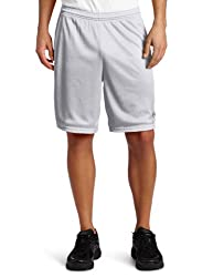 Champion Mens Long Mesh Short With Pockets,Athletic Gray,Small