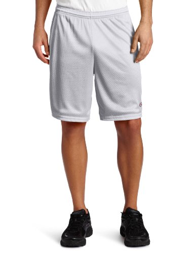 Champion Long Mesh Men's Shorts With Pockets Athletic Gray